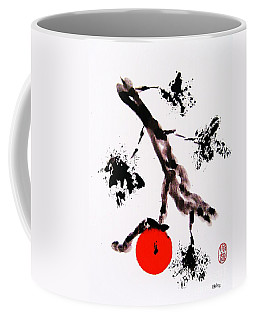 Coffee Mug featuring the painting Jukushita Kaki by Roberto Prusso