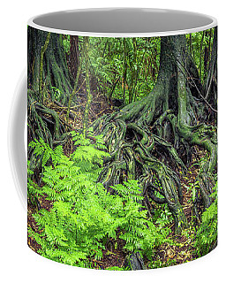 Coffee Mug featuring the photograph Jungle Roots by Les Cunliffe