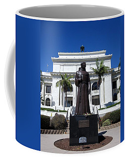 Serra At City Hall Coffee Mug by Mary Ellen Frazee