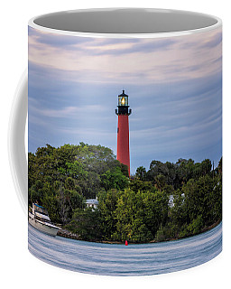 Jupiter Inlet Lighthouse Coffee Mug by Fran Gallogly