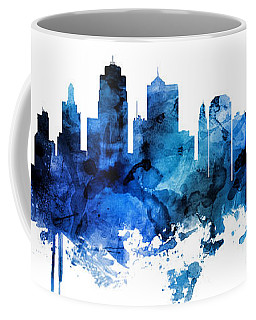 Kansas City Missouri Skyline Custom Panoramic Coffee Mug