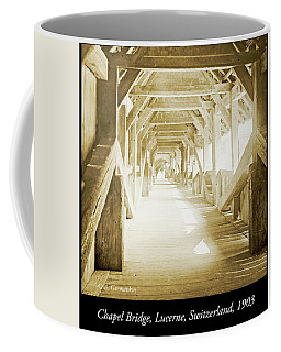 Kapell Bridge, Lucerne, Switzerland, 1903, Vintage, Photograph Coffee Mug