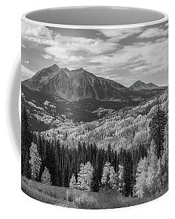 Kebler Pass Panorama Bw Coffee Mug