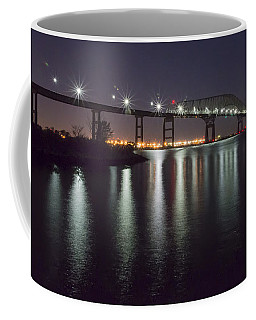 Key Bridge At Night Coffee Mug by Brian Wallace
