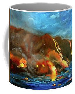 Coffee Mug featuring the painting Kilauea Volcano by Jenny Lee