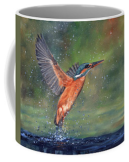 Coffee Mug featuring the painting Kingfisher by David Stribbling