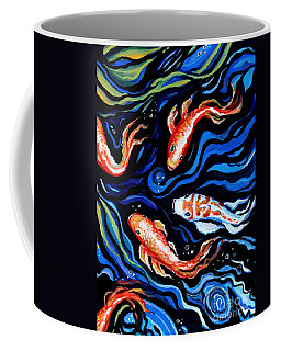 Koi Fish In Ribbons Of Water Coffee Mug