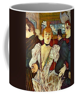 La Goulue Arriving At The Moulin Rouge With Two Women Coffee Mug