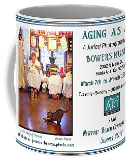 Coffee Mug featuring the photograph Lace Lady Of Burano by Jennie Breeze
