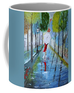 Lady In Red Original Version Coffee Mug by Dick Bourgault