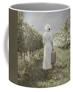 Lady In Vineyard Coffee Mug