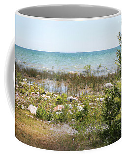 Coffee Mug featuring the photograph Lake Huron, Presque Isle, Michigan by Kelly Hazel