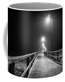 Coffee Mug featuring the photograph Lamplit Walkway. by Gary Gillette