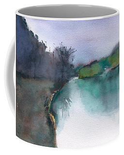 Coffee Mug featuring the painting Landscape 5 Abstract by Frank Bright
