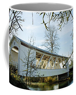 Coffee Mug featuring the photograph Larwood Covered Bridge by Nick Boren