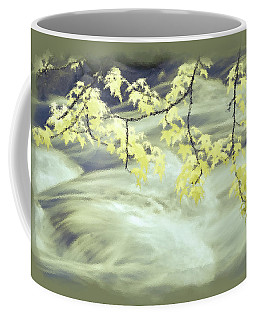 Leaves Over Gossamer Waters Coffee Mug