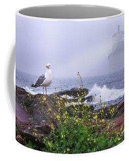 Coffee Mug featuring the photograph Lighthouse Overlay by Sharon Seaward