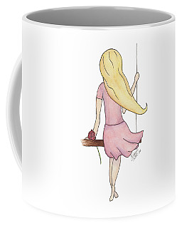 Coffee Mug featuring the painting Lillian by Betsy Hackett