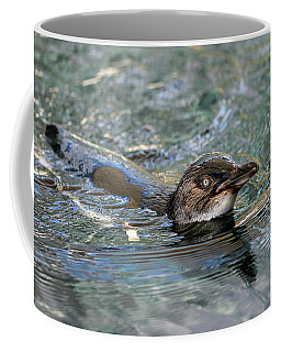 Little Penguin In The Water Coffee Mug