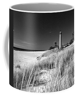 Little Sable Light Station - Film Scan Coffee Mug by Larry Carr