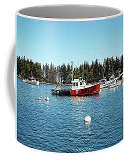 Coffee Mug featuring the digital art Lobster By Night - Sleep By Day, Camden, Maine by Joseph Hendrix
