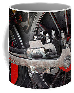 Locomotive Wheel Coffee Mug by Carlos Caetano