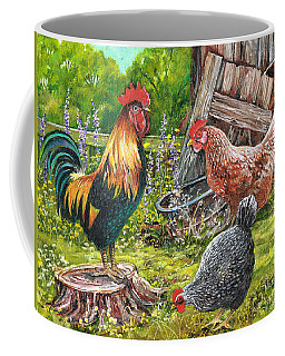 Coffee Mug featuring the painting Logging On by Val Stokes