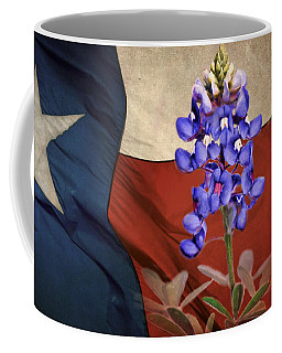Coffee Mug featuring the photograph Lone Star Bluebonnet by David and Carol Kelly
