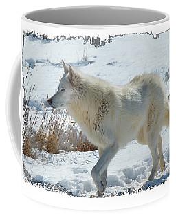 Lone White Wolf Coffee Mug