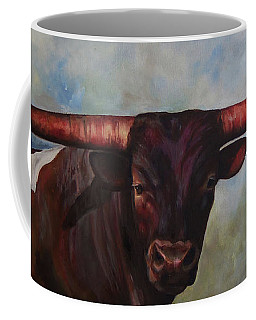 Longhorned Texan Coffee Mug by Karen Kennedy Chatham