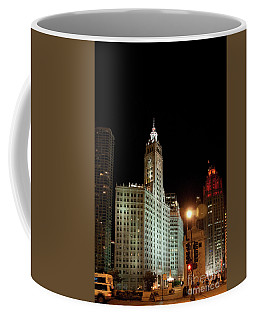 Looking North On Michigan Avenue At Wrigley Building Coffee Mug