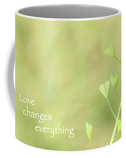 Love Changes Everything Coffee Mug by Agnieszka Ledwon