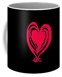 Love In Red Coffee Mug by Mary Armstrong