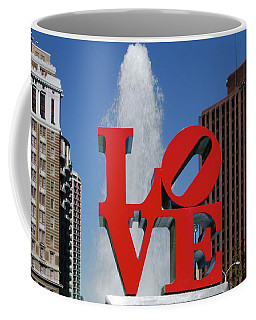 Coffee Mug featuring the photograph Love - Philadelphia by Bill Cannon