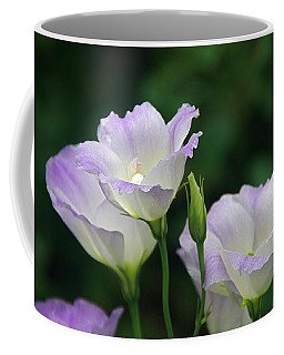 Coffee Mug featuring the photograph Lovely Lisianthus by Byron Varvarigos