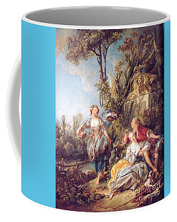 Coffee Mug featuring the painting Lovers In A Park by Pg Reproductions