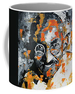 Coffee Mug featuring the painting Mahatma Gandhi by Richard Day