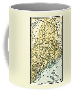 Maine Antique Map 1891 Coffee Mug