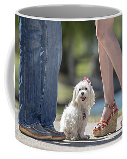 Maltese In The Middle Coffee Mug