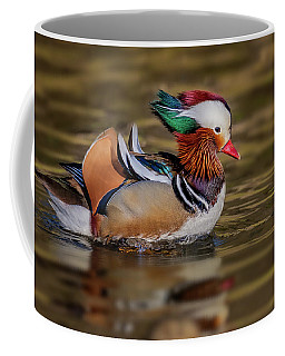 Coffee Mug featuring the photograph Mandarin Duck  by Susan Candelario