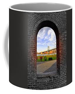 Manhattan Bridge Framed Coffee Mug by Mark Gilman