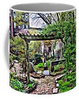 Coffee Mug featuring the photograph Manhattan Community Garden by Joan Reese