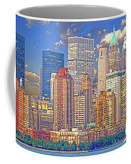 Manhattan Skyline Coffee Mug by Kai Saarto