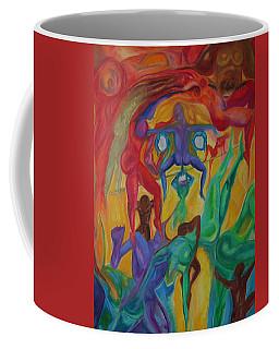 Mann I The Middle Coffee Mug