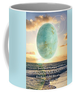 March Birthstone Aquamarine Coffee Mug