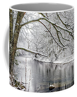 Coffee Mug featuring the photograph March Snow Along Cranberry River by Thomas R Fletcher