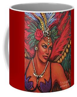 Coffee Mug featuring the painting Mardi Gras by Alga Washington