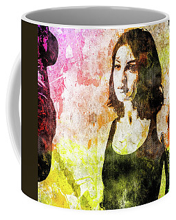 Coffee Mug featuring the mixed media Maria Valverde by Svelby Art