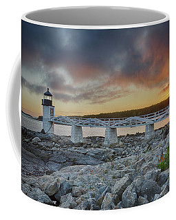 Marshall Point Lighthouse At Sunset, Maine, Usa Coffee Mug