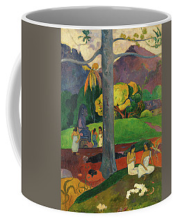 Coffee Mug featuring the painting Mata Mua  by Paul Gauguin